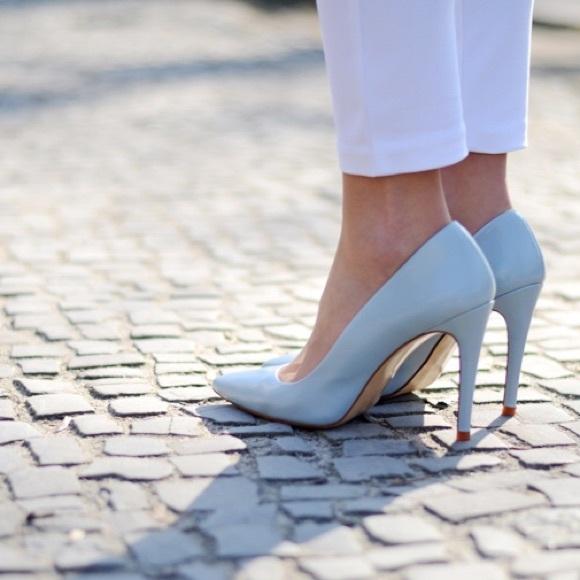 Zara Baby Blue Pumps Heels Sz 3765